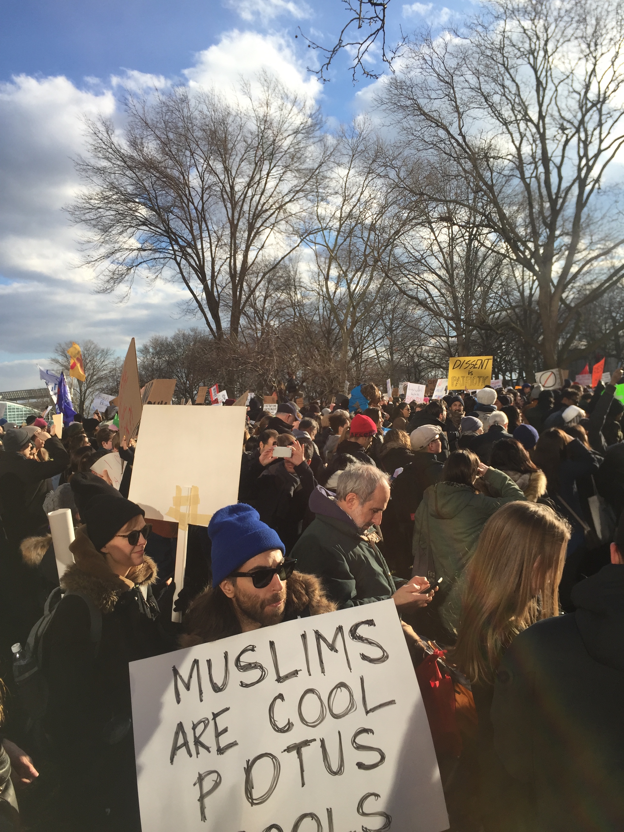 Rally Againt the Muslim Ban at Battery Park